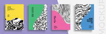 Modern Abstract Covers Set. Cool Gradient Shapes Composition. Frame For Text Modern Art Graphics. Design Business Cards, Invitations, Gift Cards, Flyers ,brochures, Banner