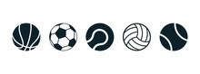 Set Of Sports Balls Icon - Stock Vector