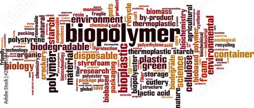 Biopolymer word cloud Wallpaper Mural