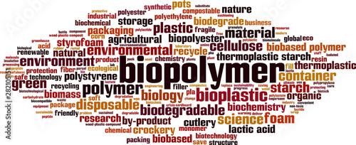 Photo Biopolymer word cloud