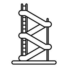 Aquapark Jumping Tower Icon. O...