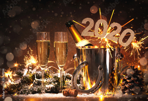 Obraz na plátně New Years Eve celebration