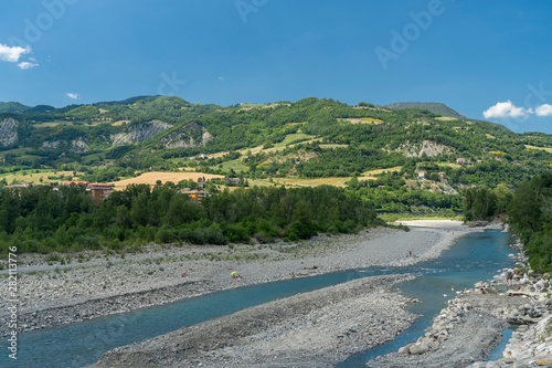 Photo Trebbia river from the bridge of Bobbio