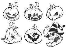 Cartoon Scary Jack O' Lantern ...