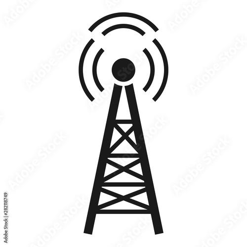 Radio tower icon  Simple illustration of radio tower vector