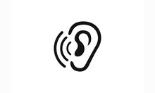 Hearing, Ear Love Logo Icon Ve...