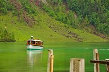 Lake Boat Approaching Dock