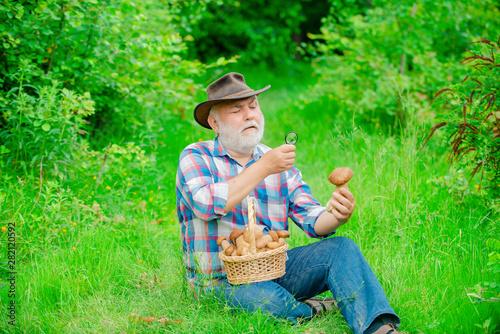 Fotografie, Obraz  Happy Grandfather - summer and hobbies