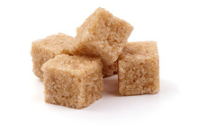 Cubed Brown Cane Sugar, Isolat...