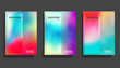 Colorful gradient cover template set design for flyer, poster, brochure, typography or other printing products