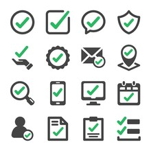 Approve And True Check Icon Se...