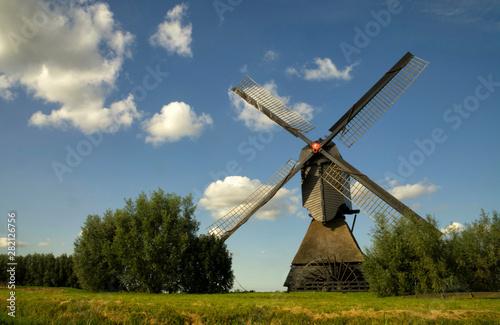 Tuinposter Molens The Noordeveldse windmill