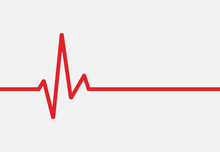Heartbeat Line Icon Isolated On White Background. Vector Illustration.