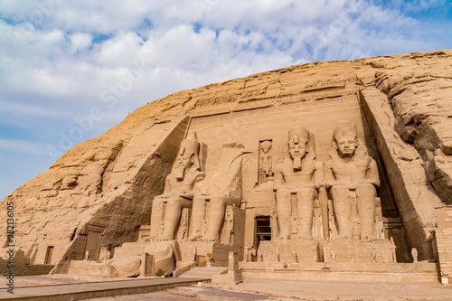 Fototapeta  Abu Simbel temple, a magnificent landmark built by pharaoh Ramesses the Great, E