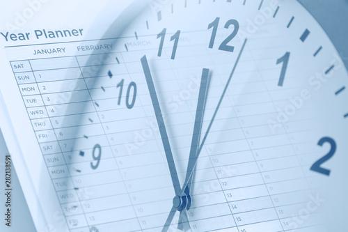 Foto auf AluDibond London Time management. Year planner