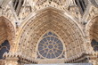 tympan et voussure à la cathédrale de Reims