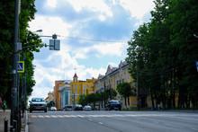 Smolensk, Russia - May, 26, 2019: Image Of Highway In Smolensk, Russia
