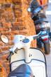 Verona, Italy - July, 11, 2019: motocicles on a parking in Verona, Italy