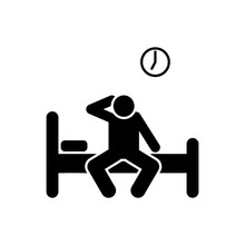Man, Wake Up, Bed, Morning Icon. Element Of Daily Routine Icon
