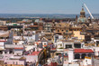 City of Seville seen from above. Andalusia. Spain. Cathedral of Seville.