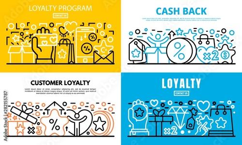 Cuadros en Lienzo  Loyalty program reward banner set