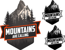 The Mountains Are Calling. Vec...