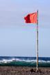 Leinwandbild Motiv Large Waves Breaking on the Coast