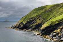 Sea Cliffs And Island South Of...