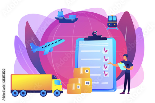 Fotografía Orders worldwide shipment service agreement