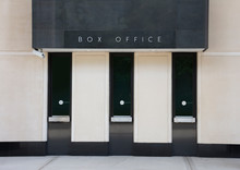 Generic Box Office Ticket Windows At Theater For Plays Movies And Shows With Three Windows