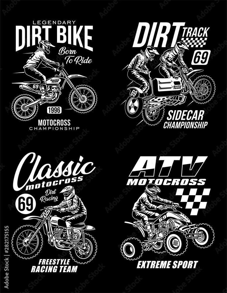 Fototapeta Motocross Graphic T-shirts Collection