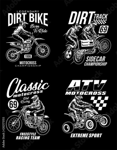 Fotografie, Obraz Motocross Graphic T-shirts Collection