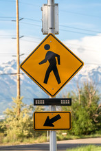 Pedestrian Crossing Sign Cross...