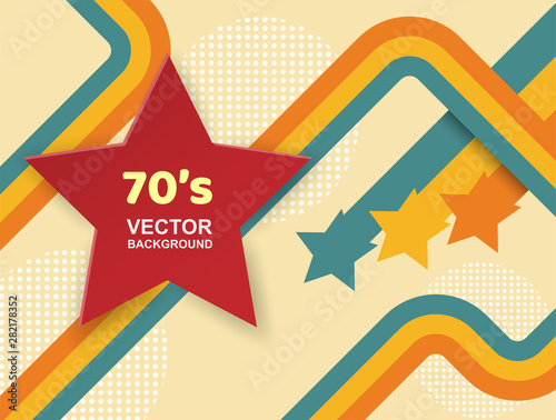 Abstract. 70s background, Vintage retro. vector. Poster Mural XXL