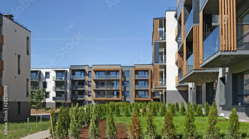 Fényképezés The new modern standard modular homes  with low cost  apartments for young fami
