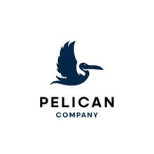 Pelican Bird Company Logo Design Template Inspiration - Vector
