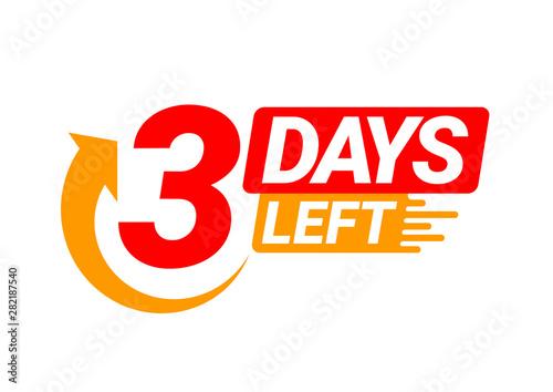 Valokuvatapetti Countdown left days banner