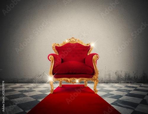 Foto  Luxury sparkling armchair