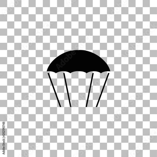 Fotografia Parachute icon flat