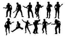 A Set Of Guitarist Musicians I...