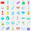 Washing icons set. Cartoon style of 36 washing vector icons for web for any design