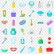 Stomatology icons set. Cartoon style of 36 stomatology vector icons for web for any design