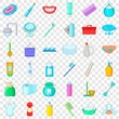Cleaning icons set. Cartoon style of 36 cleaning vector icons for web for any design