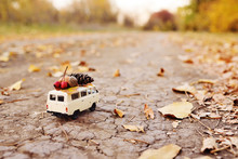 Autumn Concept - A Toy Car Dri...
