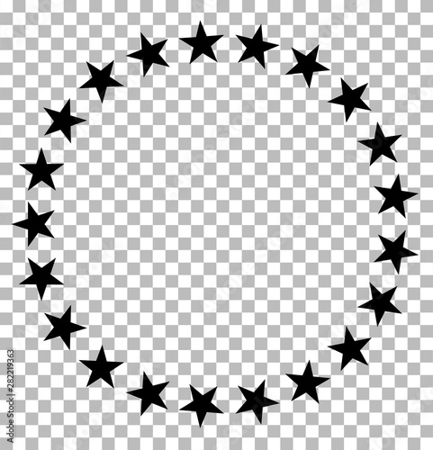 Stars In Circle Icon On Transparent Stars In Circle Design