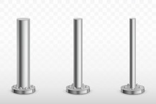 Metal Pole Pillars Set, Steel ...