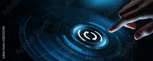 Cuadros en Lienzo  Update Software Computer Program Upgrade Business technology Internet Concept