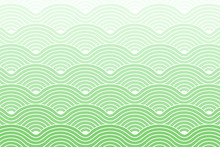 Curve Waves Geometric Pattern Background, Vector Illustration Dark Sea Green Gradient.