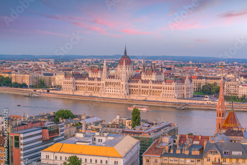 Photo Stands Europa Budapest skyline in Hungary