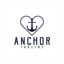Anchor Wave Logo Silhouette Ma...
